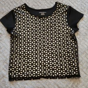 Girls Black and Gold Top